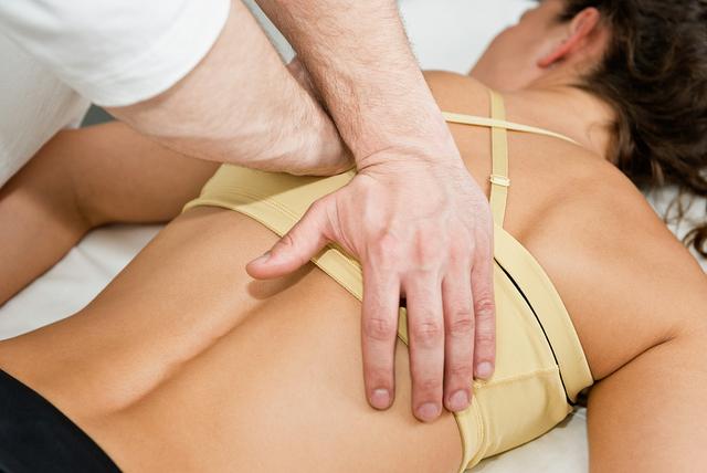 Chiropractor Treating